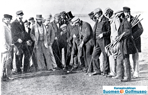 Some golfers and club makers c. 1858.