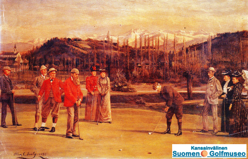 Golf at Pau 1893, by Allen C. Sealy, of Kent, U.K.